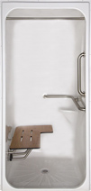 "C 4136BF FUS 3/4"" Transfer Shower Stall"