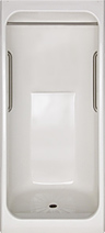 IS 3639SH Space Saving Corner Shower